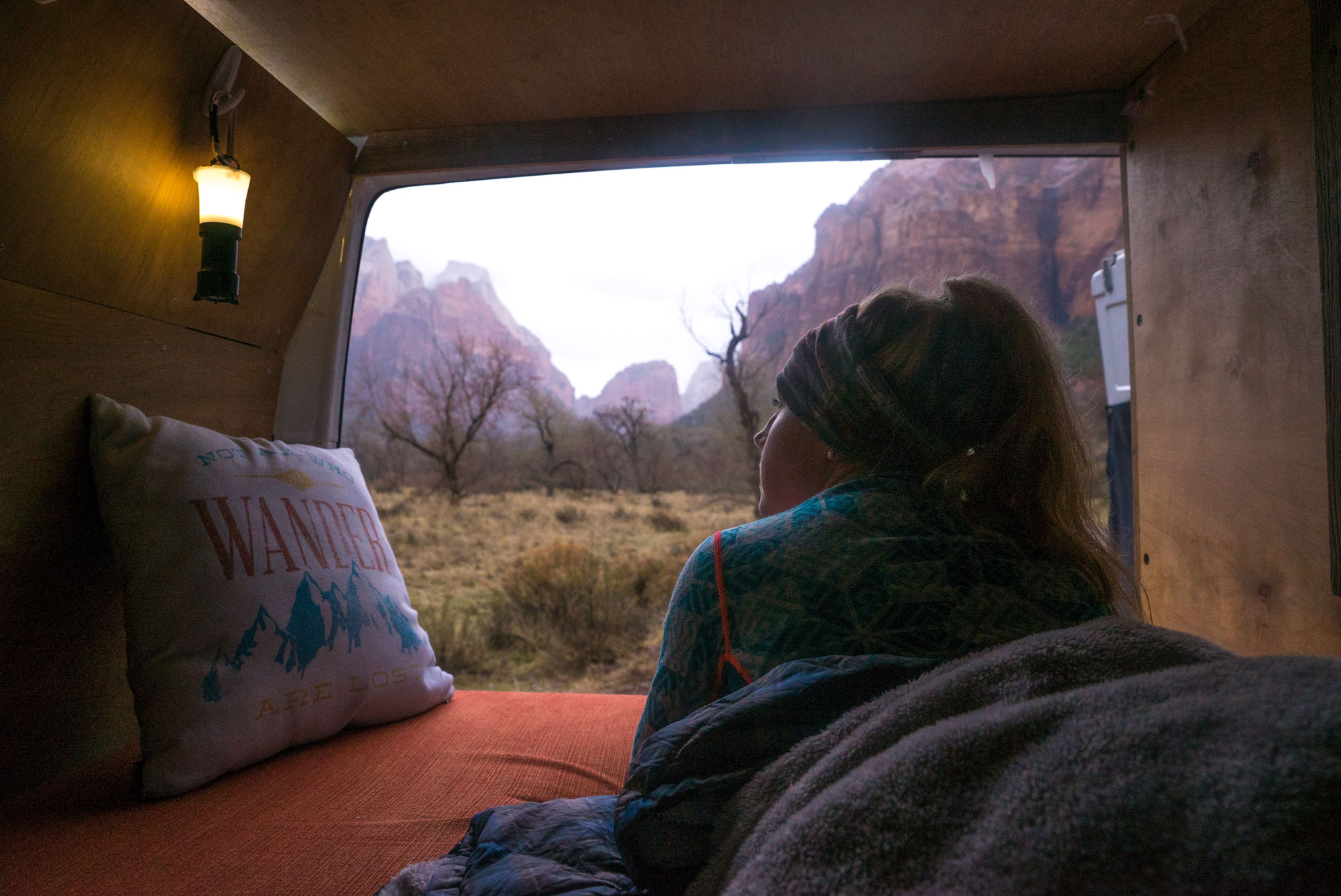 The morning routine in Zion, Utah.