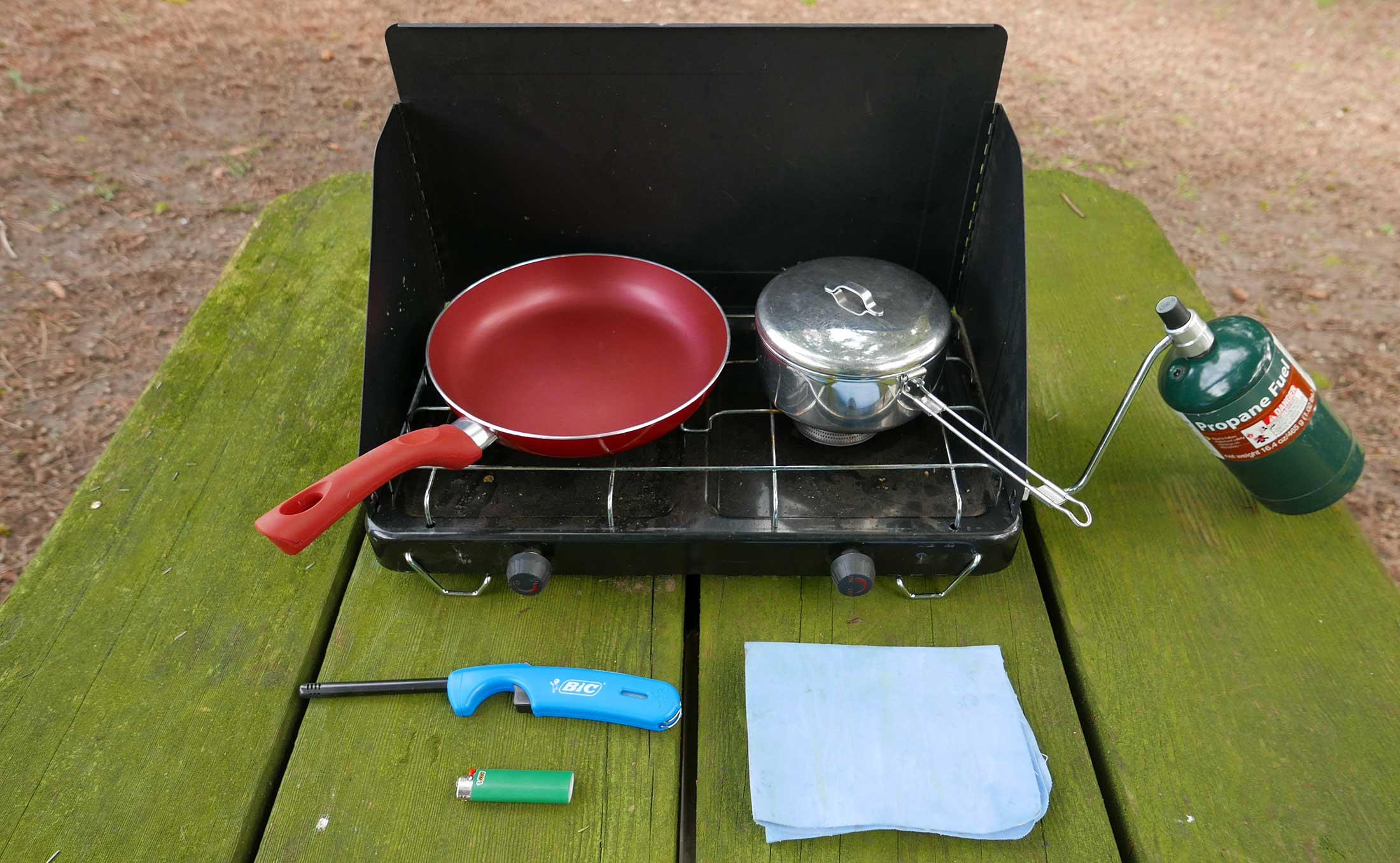camp kitchen cooking gear