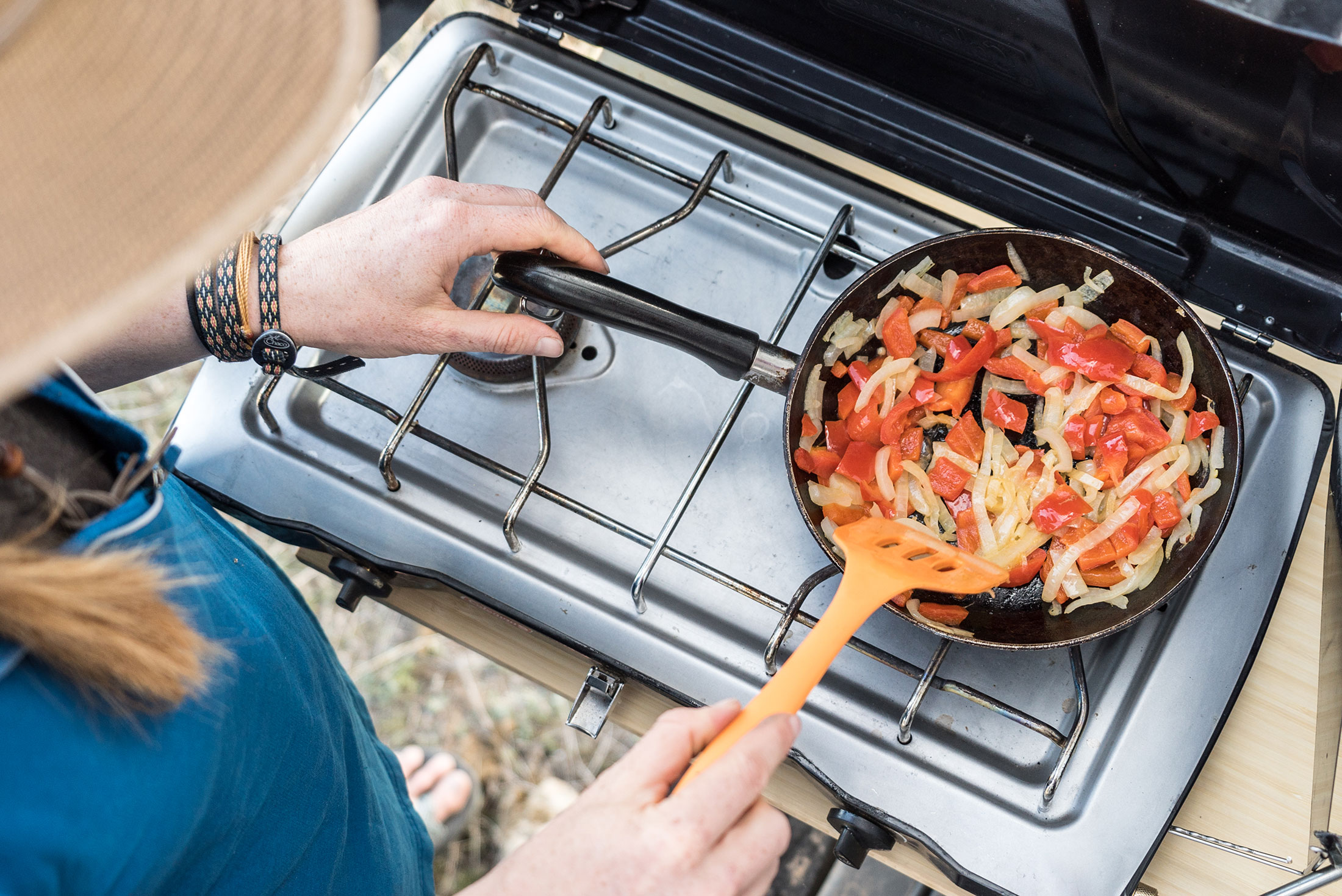 cooking while car camping