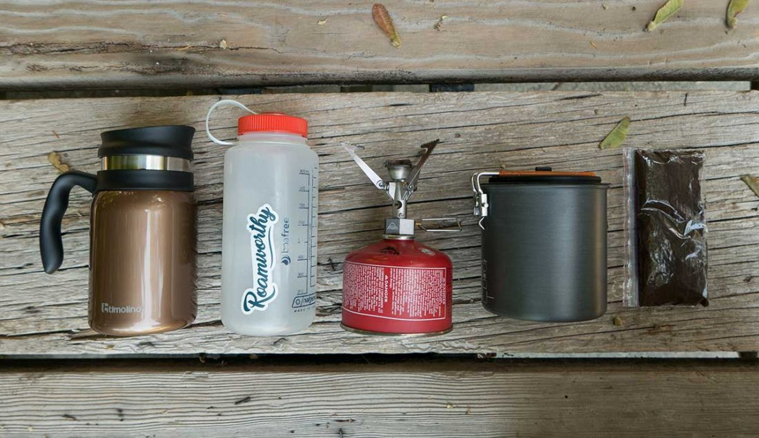 How to make camping french press coffee