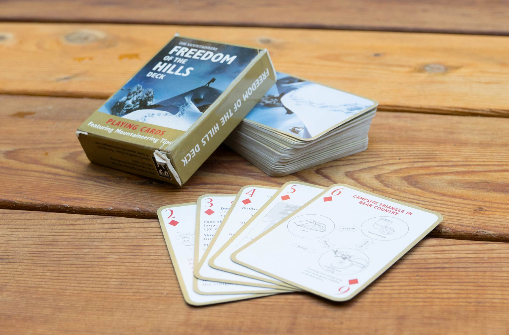 Mountaineer playing cards.