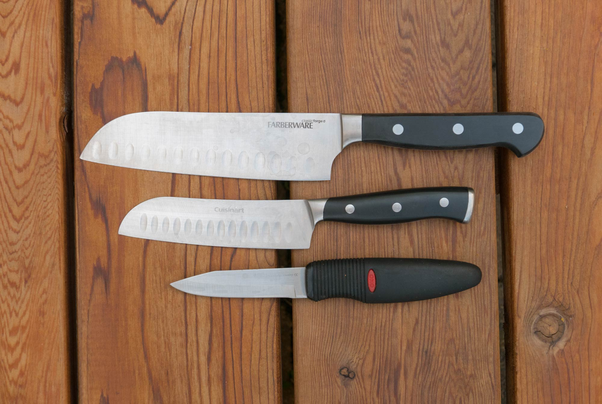 camp kitchen knife set for cooking outdoors