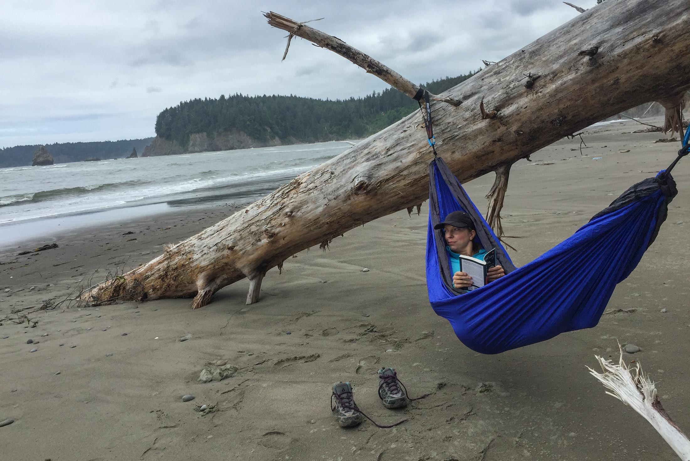 Hop in the hammock and wait out the tide.